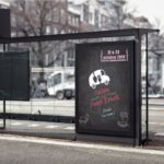 Affiche vintage salon du Foodtruck